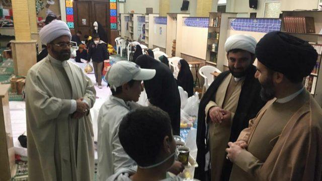 بازدید امام جمعه شهرستان پردیس از مراحل بسته بندی مایحتاج نیازمندان